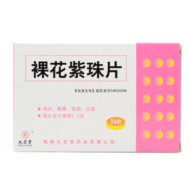 九芝堂 裸花紫珠片 0.5g*24片/盒