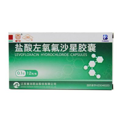 宁新宝 盐酸左氧氟沙星胶囊 0.1g*12粒/盒