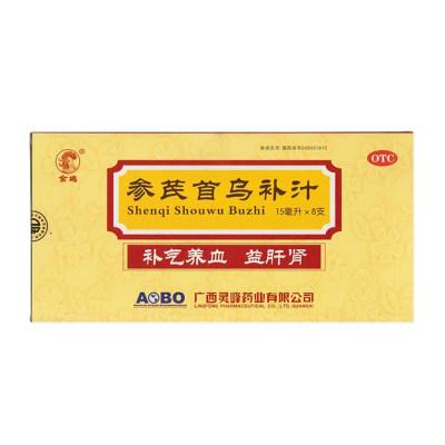 金鸡 参芪首乌补汁15ml*8