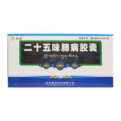 金诃 二十五味肺病胶囊 0.33g*20粒*3小盒/盒