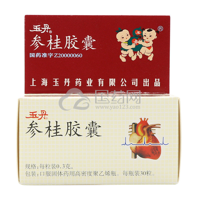 玉丹 参桂胶囊 0.3g*30粒/盒
