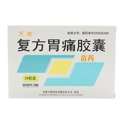 万胜 复方胃痛胶囊 0.28g*24粒/盒