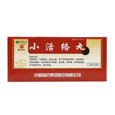 普济堂 小活络丸 3g*10丸/盒
