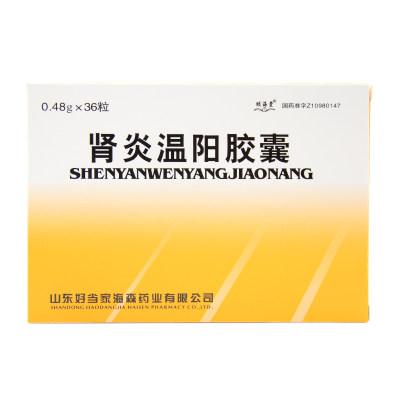 颐海棠 肾炎温阳胶囊 0.48g*36粒/盒