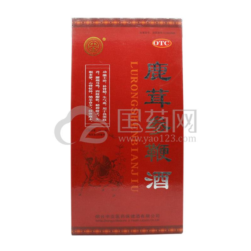 中亚 鹿茸参鞭酒 500ml/盒
