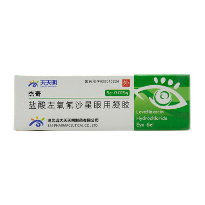 天天明 杰奇 盐酸左氧氟沙星眼用凝胶 5g*1支/盒