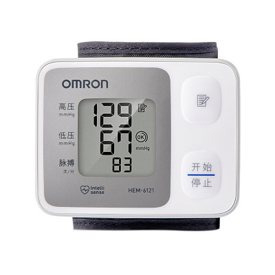 欧姆龙电子血压计HEM-6121 腕式 智能
