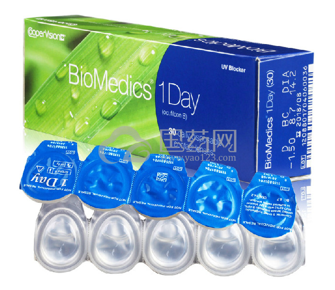 酷柏依视明隐形眼镜 BioMedics 1 Day 每日抛 30片