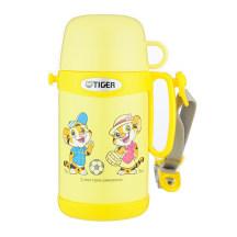 TIGER 虎牌 0.5L儿童不锈钢真空保温保冷杯 MCG-A05C 黄色