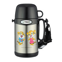 TIGER 虎牌 0.5L儿童不锈钢真空保温保冷杯 MCG-A05C 不锈钢本色