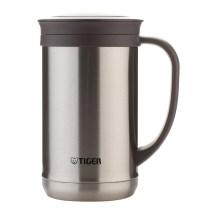TIGER 虎牌 0.5L不锈钢保温杯泡茶杯办公杯 CWM-A050 不锈钢色