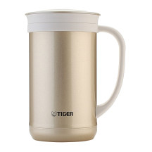 TIGER 虎牌 0.5L不锈钢保温杯泡茶杯办公杯 CWM-A050 金灰色