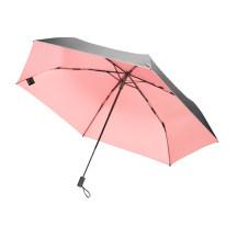 BANANA UNDER超轻随身伞樱花粉黑胶防晒太阳伞晴雨伞折叠