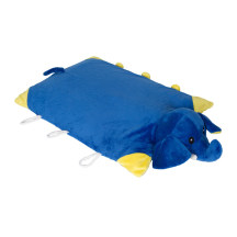 Napattiga娜帕蒂卡防螨透气儿童卡通动物枕可折叠乳胶枕(DP蓝象)