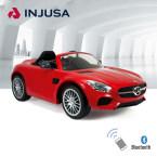 INJUSA西班牙原装进口儿童电动玩具车跑车奔驰Benz AMG GT 红色入门款