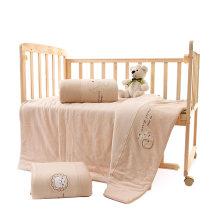 笨笨豆天然有机棉儿童新生儿婴儿被子彩棉被套纯棉宝宝被罩套110*140