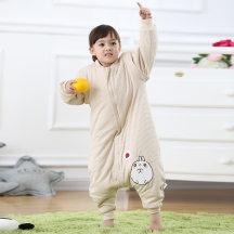 笨笨豆彩棉加厚婴儿睡袋宝宝分腿睡袋儿童纯棉秋冬款防踢被