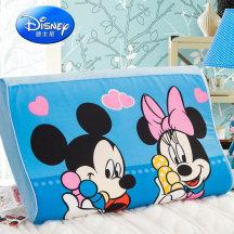 迪士尼儿童卡通舒压枕慢回弹记忆枕可拆洗枕套护颈枕头枕芯25*40cm