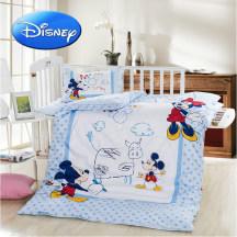 迪士尼婴儿床品件套纯棉卡通婴幼儿宝宝四件套被套被芯枕套枕芯幼儿园儿童被子120*150