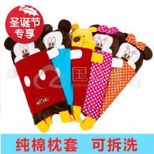圣诞专享】迪士尼婴儿荞麦枕头0-1-3-6岁婴儿枕头加长透气防偏头宝宝枕