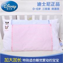 迪士尼宝宝定型枕新生儿防偏头幼儿枕全棉加长小孩儿童枕春夏四季婴儿枕头 60*30cm