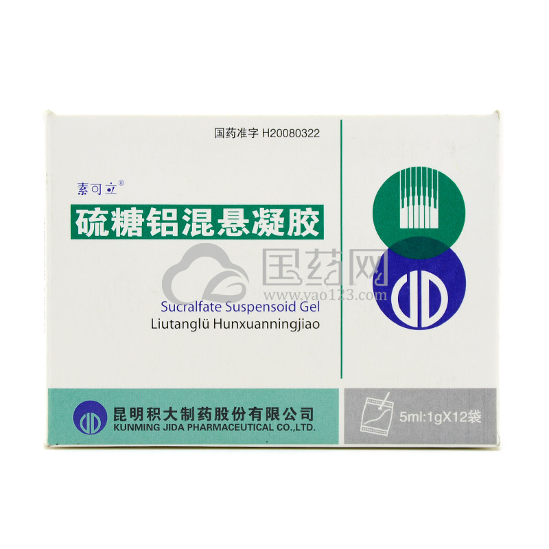 素可立 硫糖铝混悬凝胶 1g*12袋/盒