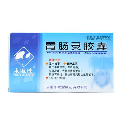 永孜堂 胃肠灵胶囊 0.3g*24粒/盒