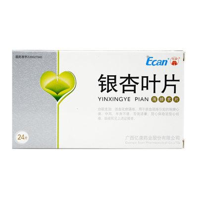 龙城 银杏叶片 24片/盒