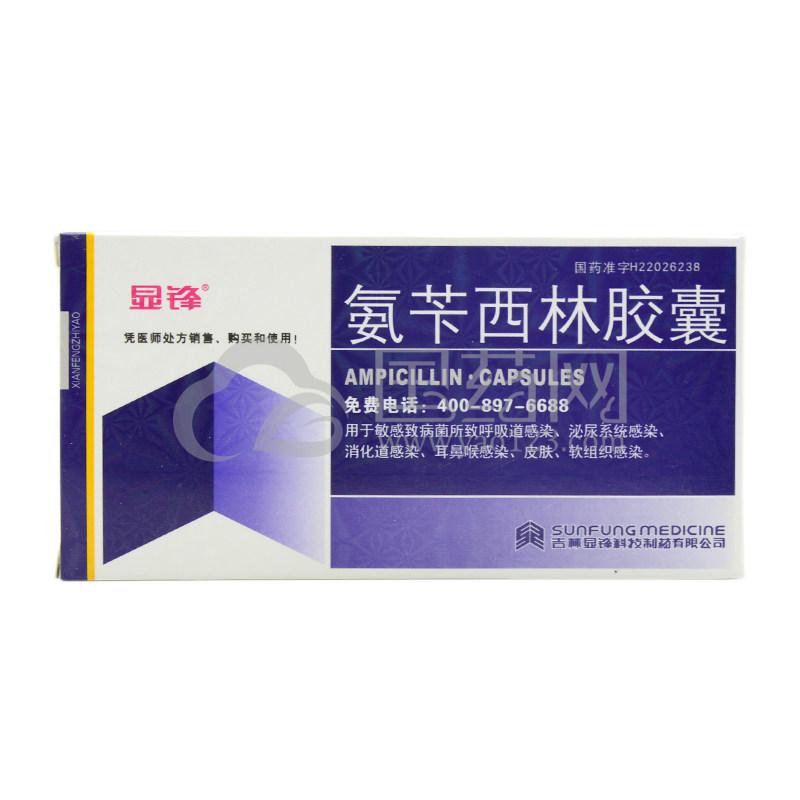 显锋 氨苄西林胶囊 0.1g*24粒/盒