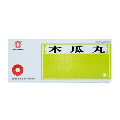沈阳红药 木瓜丸 9g*10丸/盒