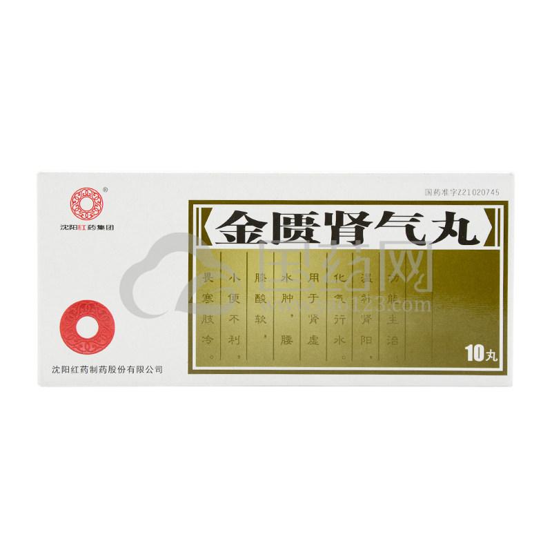 沈阳红药 金匮肾气丸 6g*10丸/盒
