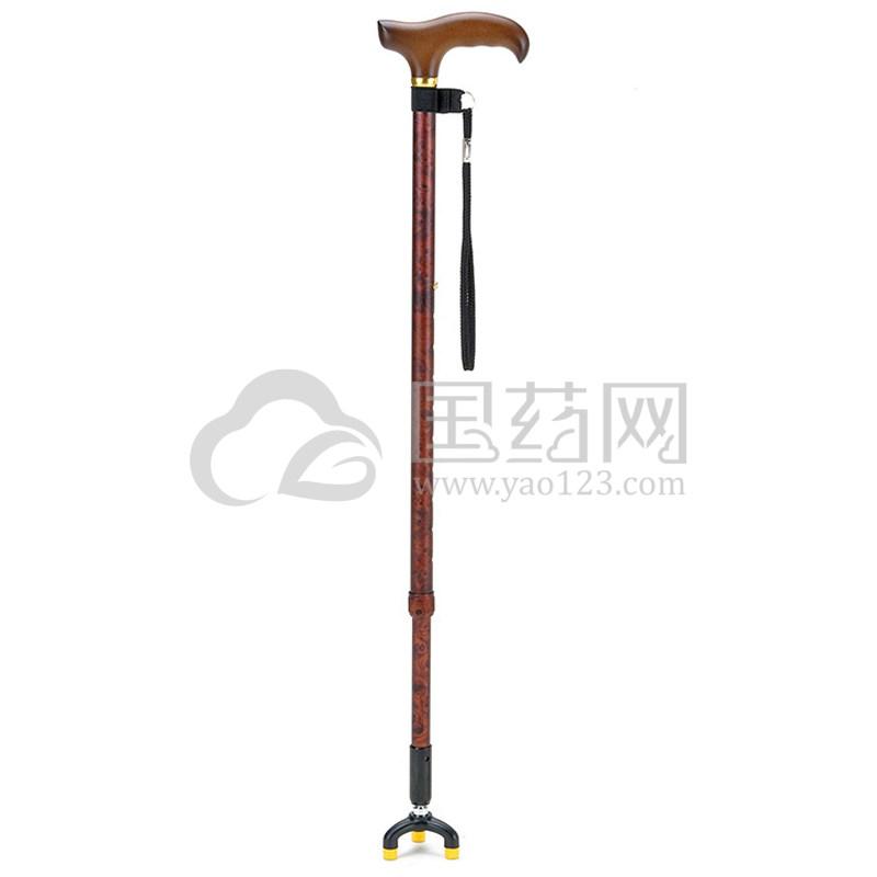 一期一会手杖TS-30BR棕色 伸缩三脚手杖