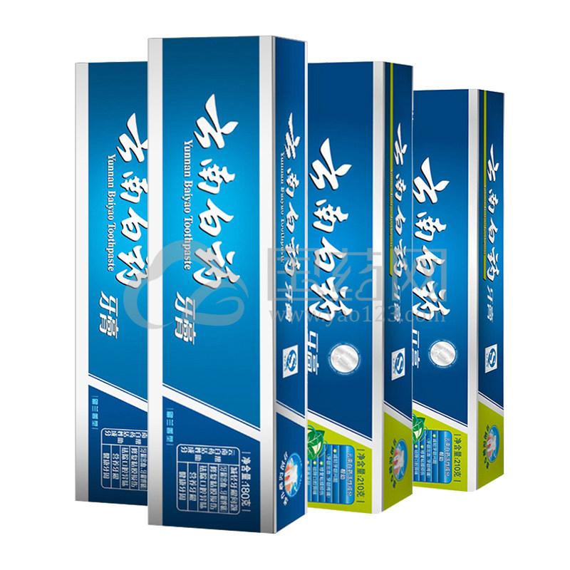 云南白药牙膏 薄荷香型 210g*2支+云南白药牙膏 留兰香型 180g*2支